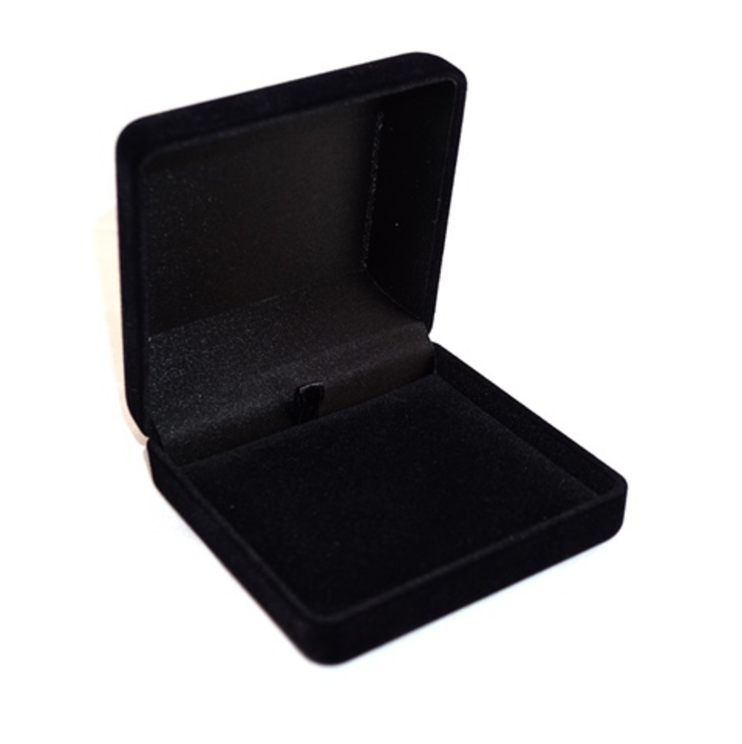 SSSB - LARGE PENDANT BOX BLACK FLOCK BLACK PAD BULK DEAL (24 PCS) image 0