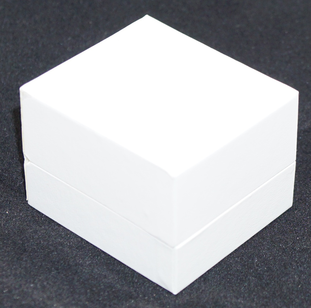 SDR - RING BOX LEATHERETTE WHITE NO LINE WHITE VINYL PAD BULK DEAL (36 PCS) image 1