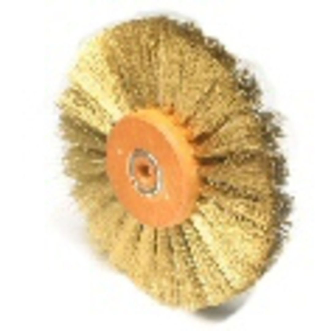 CIRCULAR BRASS WIRE BRUSH 80mm image 0