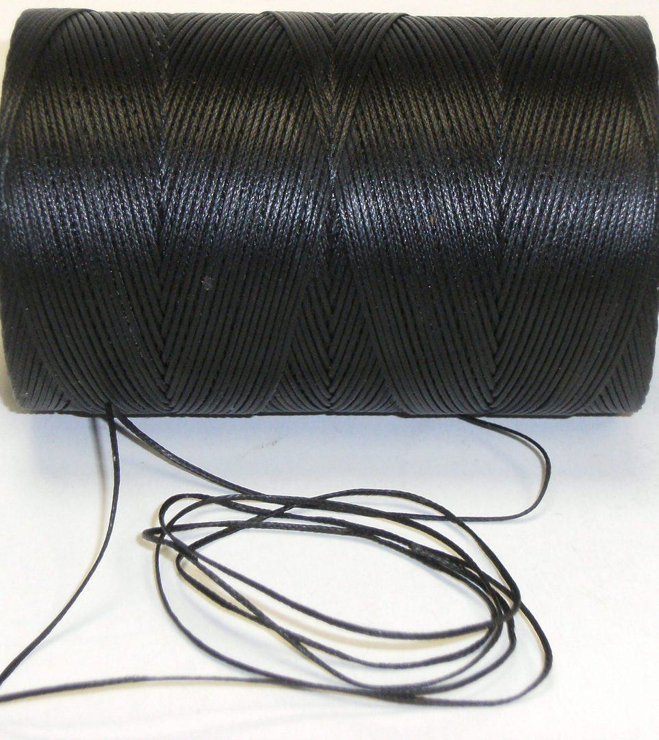 BLACK WAXED JEWELLERY CORD 1.4MM (10 MTRS) image 0