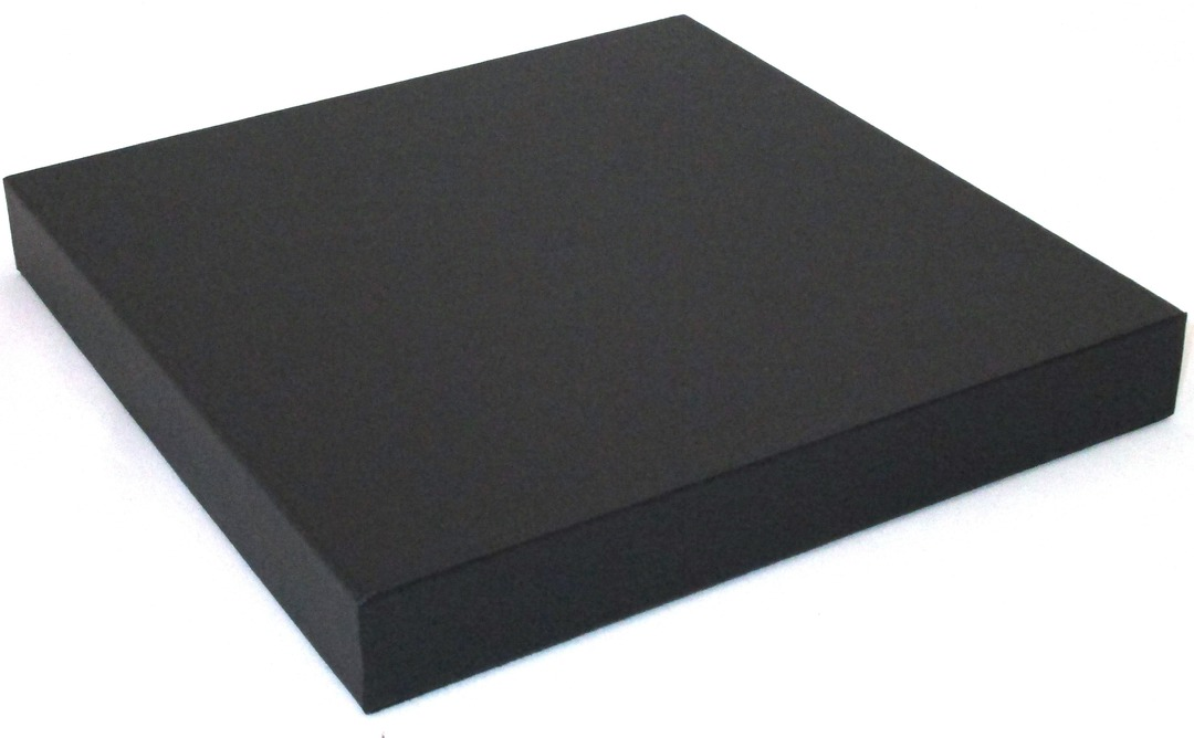 DISPLAY PLATFORM SMALL SQUARE BLACK VINYL image 0