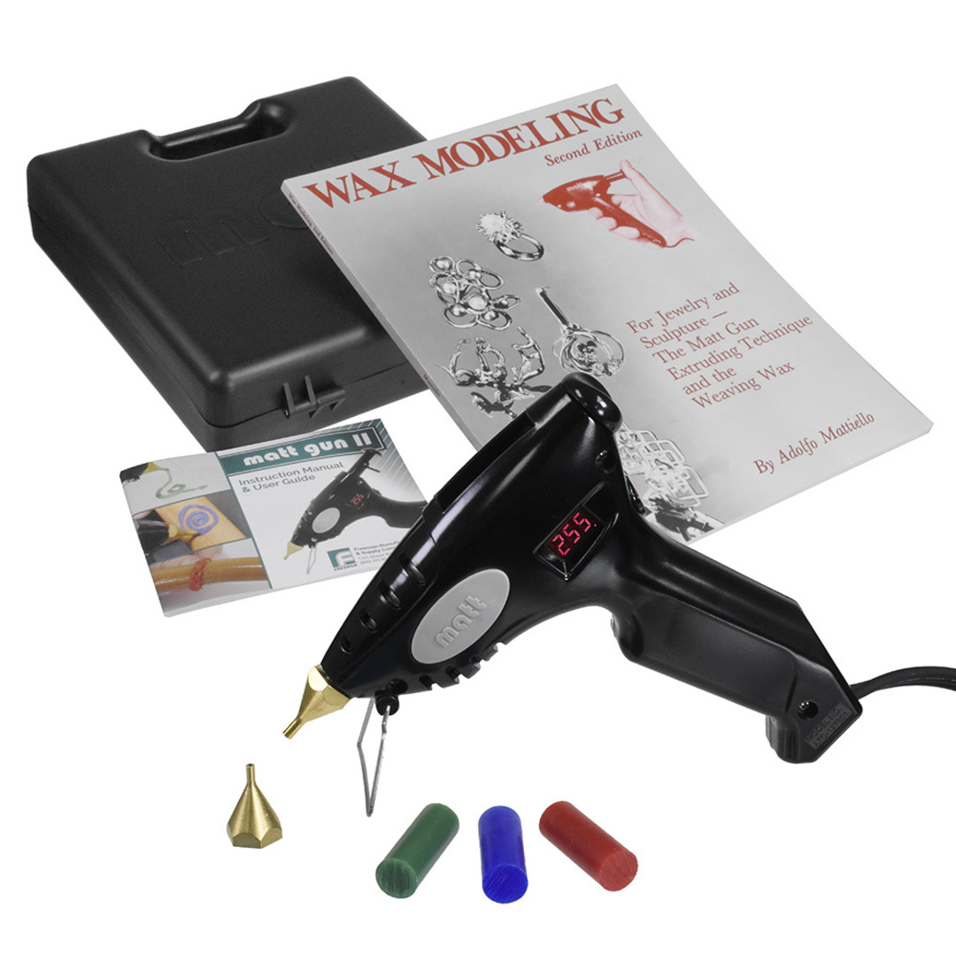 MATT WAX GUN KIT - HOT GUN, BOOK & WAX PELLETS image 0