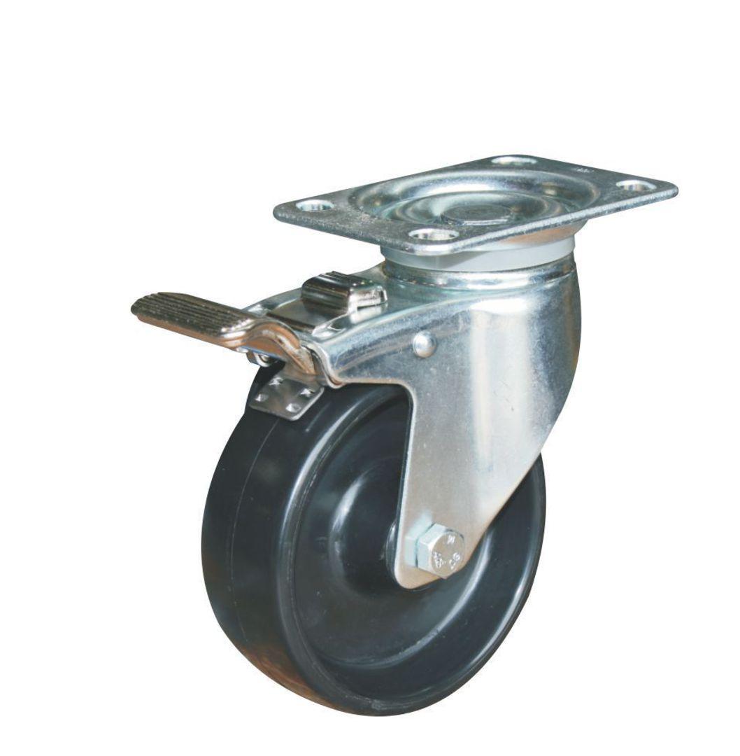 Swivel & Total Brake 100mm Nylon Castor - WCN100/P-TB image 0