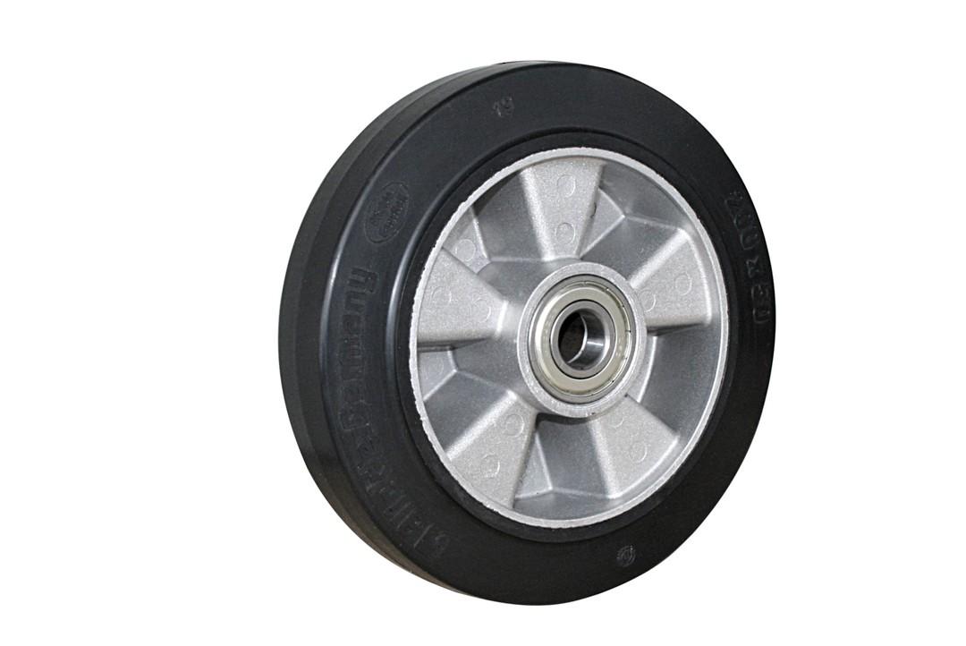 Elastic Rubber Wheel-Aluminium Centre  -200mm- MAB200 image 0