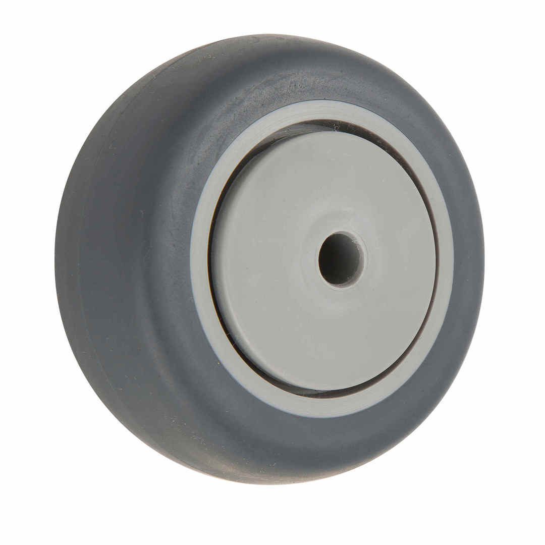 Grey Rubber Wheel 75mm - WCR75 image 0