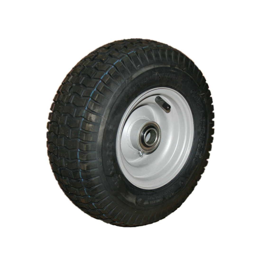 Pneumatic Wheel - Steel Rim - 15/600x6 Turf - BWW150-156T image 0