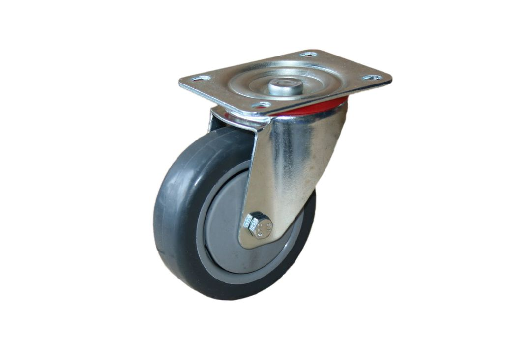 Swivel 100mm Rubber Castor - MCR100/P image 0