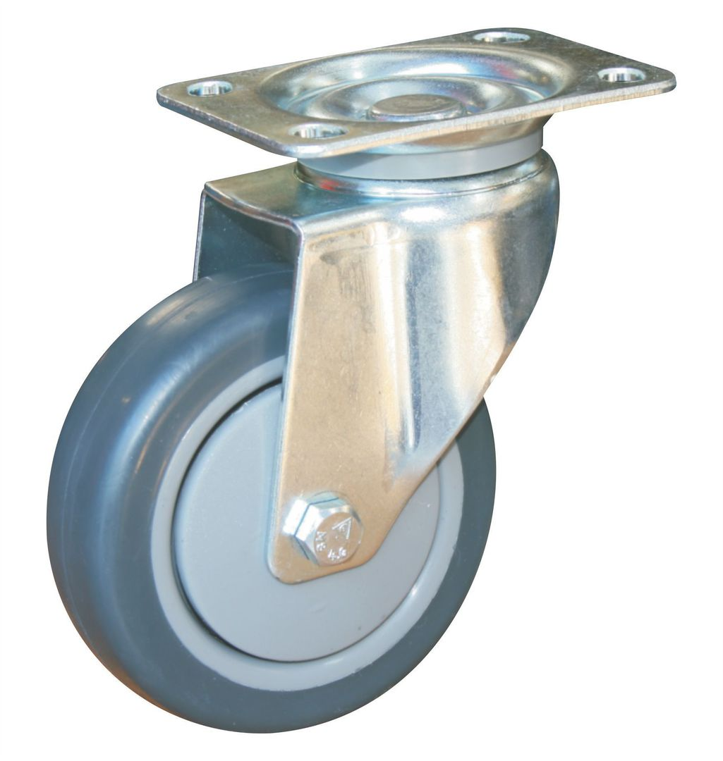 Swivel 100mm Rubber Castor - WCR100/P image 0