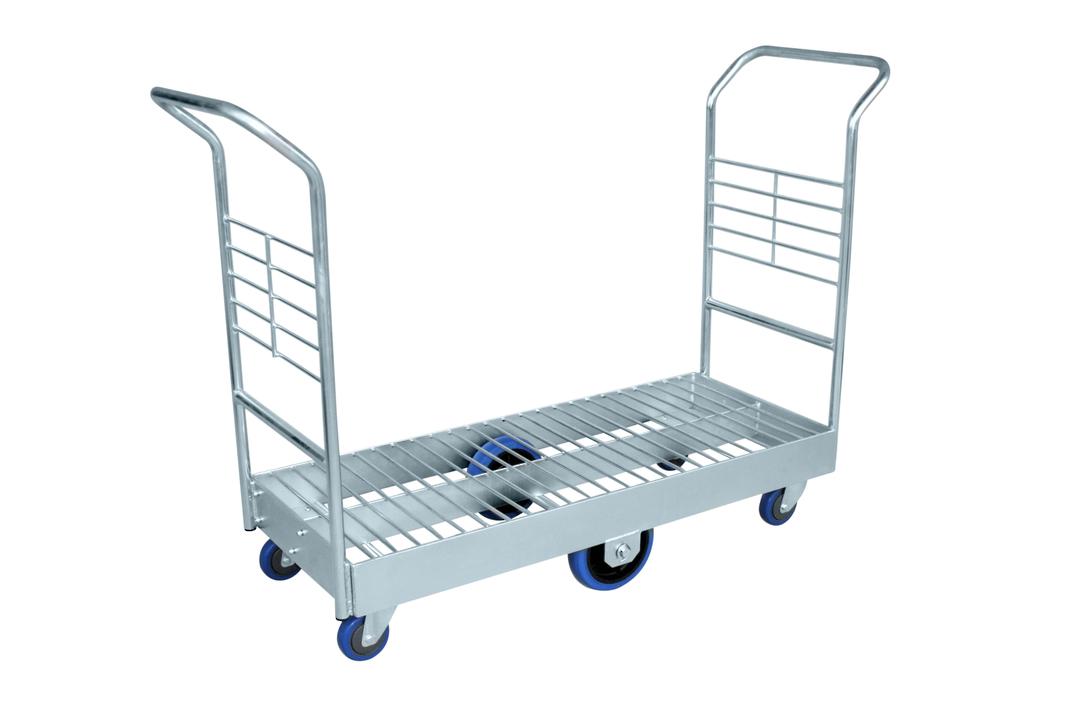 Heavy Duty Platform Trolley-Double Handle-Wire Mesh Base-PTRD1200 image 0