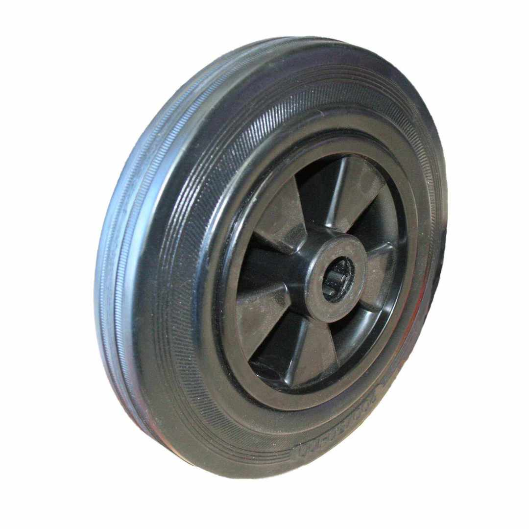 Black Rubber Wheel 200mm - MHK200 image 0