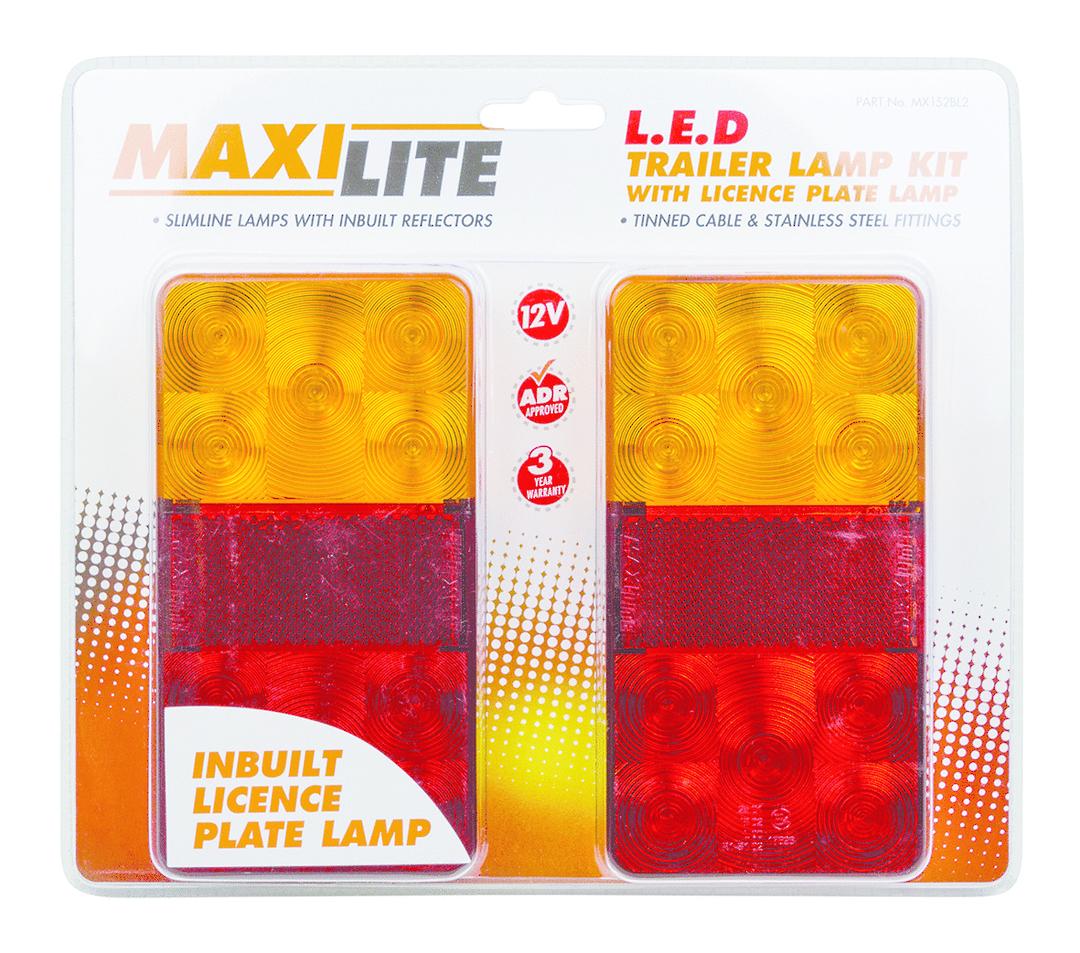 L E D Trailer Light Stop/tail/indicator 12Volt ( pair) image 0