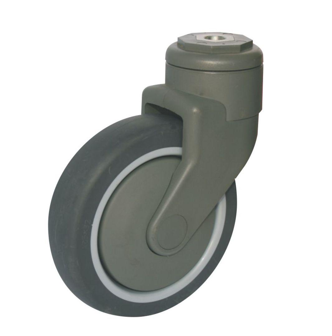 Swivel 125mm Reinforced Nylon Castor - MSR125/NH image 0