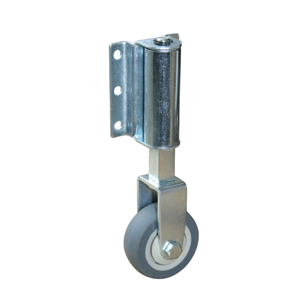 Fixed 50mm Rubber Spring Loaded Gate Castor - Side Mount - GSL50-F image 0