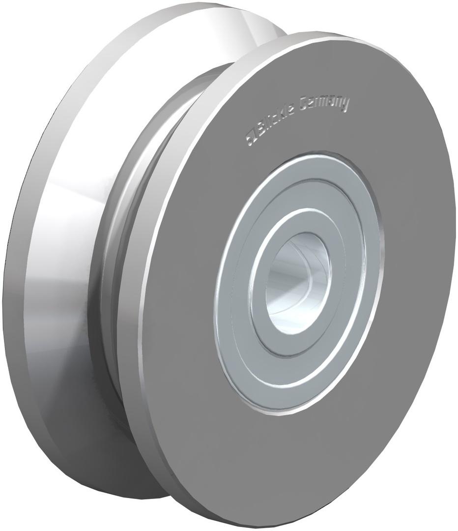 V-Groove Wheel 50mm - Steel - S50V image 0
