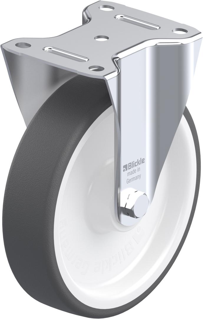 Fixed 200mm Urethane Castor - BHU200/F image 0