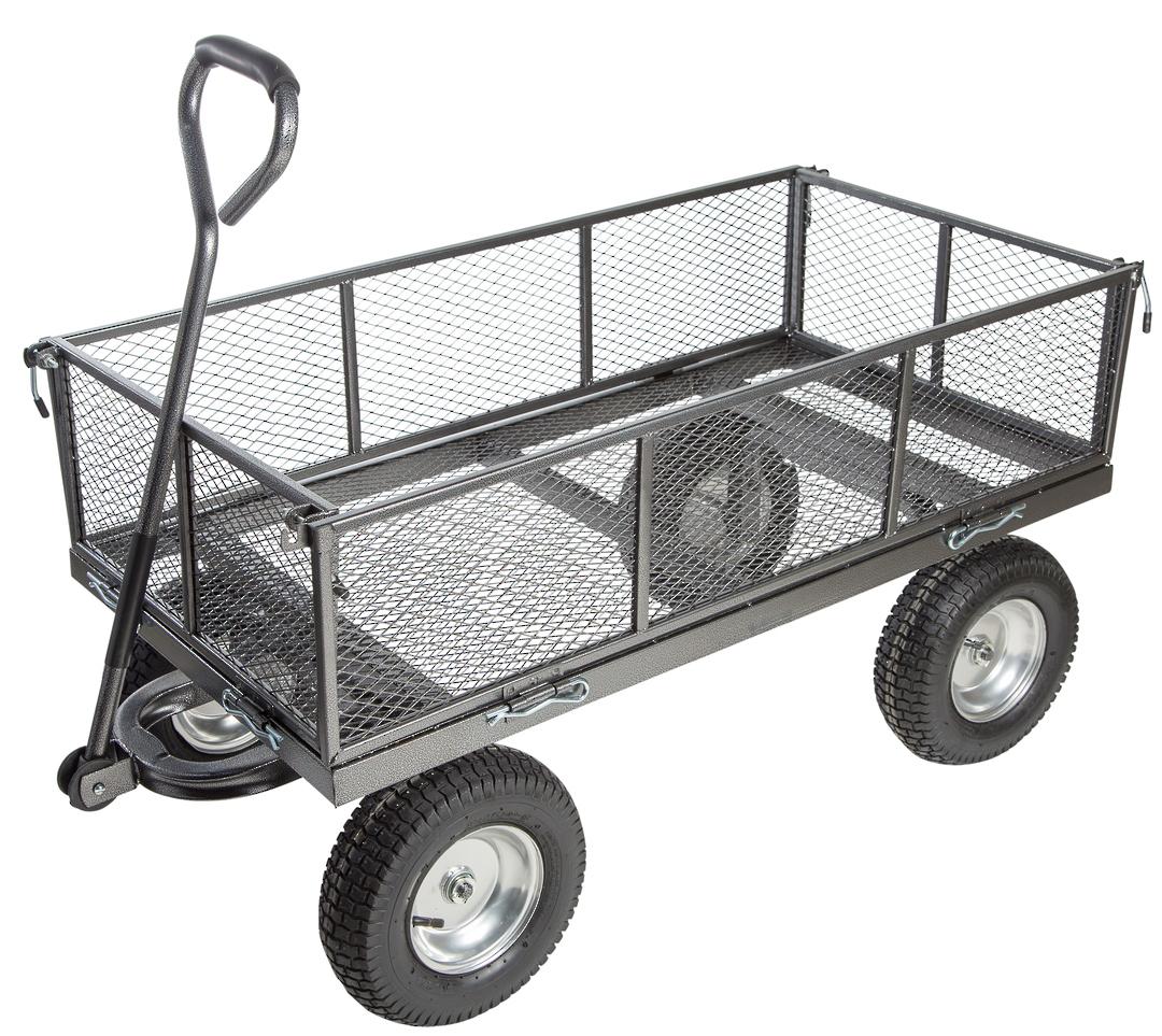 Light Duty Flat Deck Trolleys, 345mm Wheel Diameter - FD1840 image 0