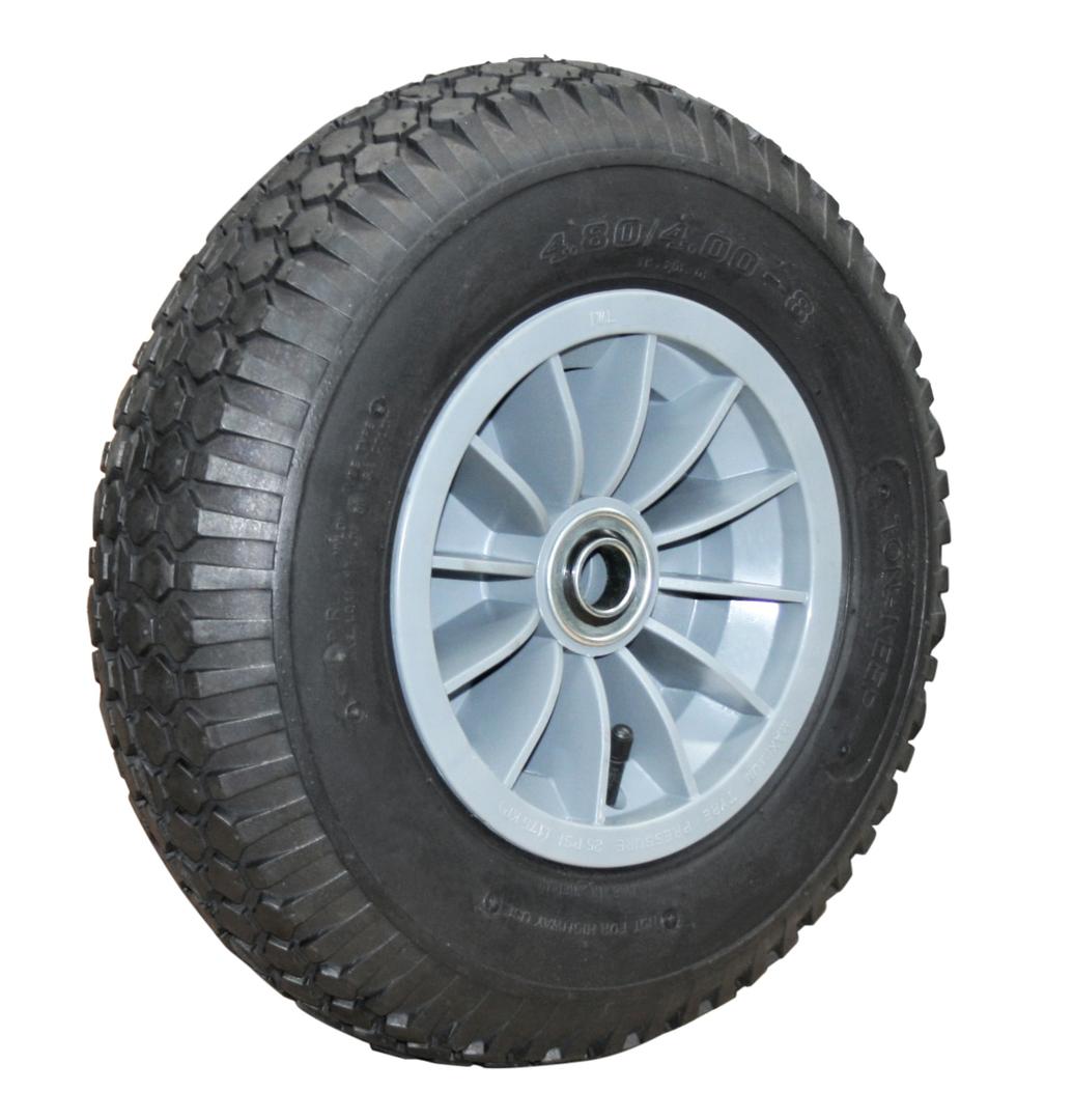 Pneumatic Wheel - Plastic Rim - 480/400x8 Diamond - PWW200-400D image 0