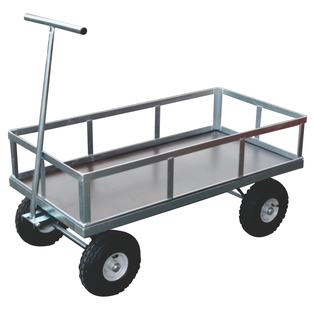 Heavy Duty Flat Deck Trolleys - Removable Sides - FDP1260-ZS image 0