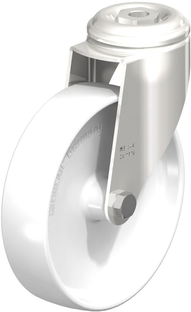 Swivel 125mm Nylon Castor - Stainless Steel - WSN125/SH image 0