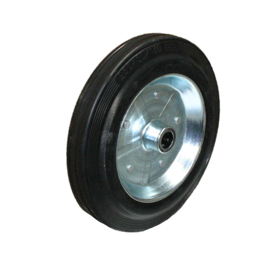 Solid Rubber Wheel 250mm - Steel Rim - MHK250 image 0