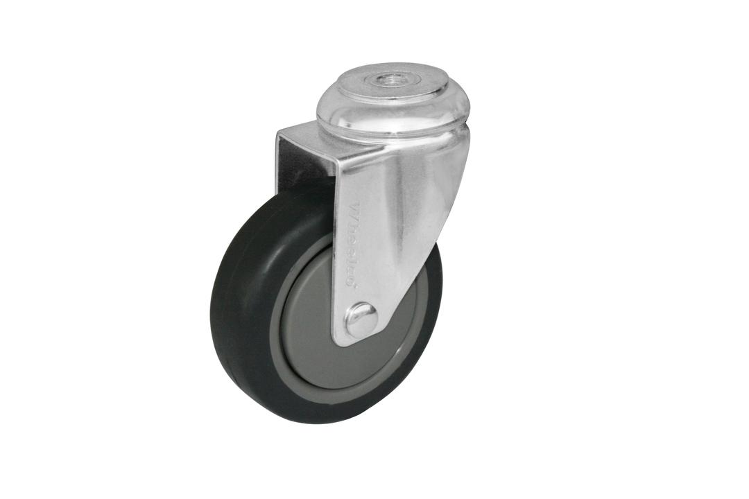 Swivel 100mm Rubber Castor - WCR100/H image 0