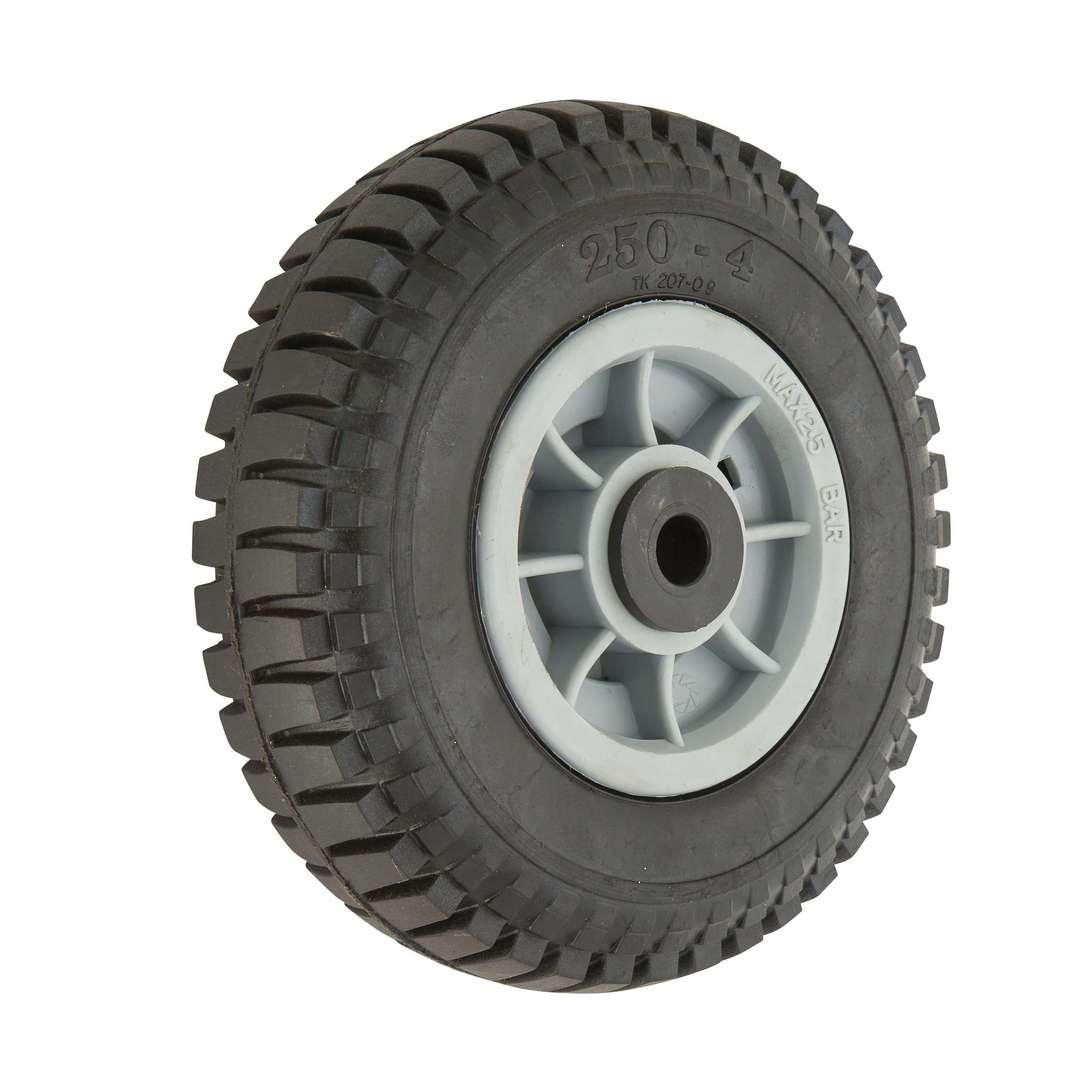 Solid Rubber Wheel 220mm - Plastic Rim - PSR2504 image 0