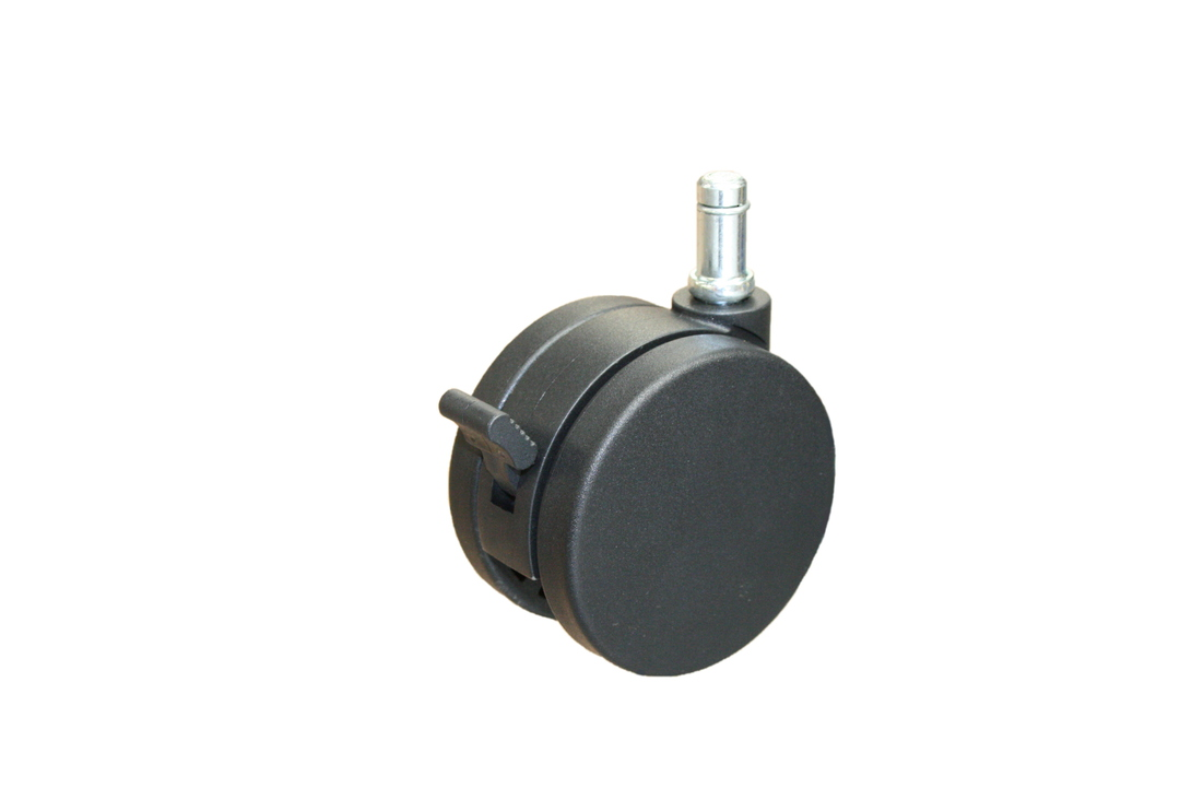 Twin Wheel Castor 75mm - Stem & Circlip - TW75-C11-B image 0