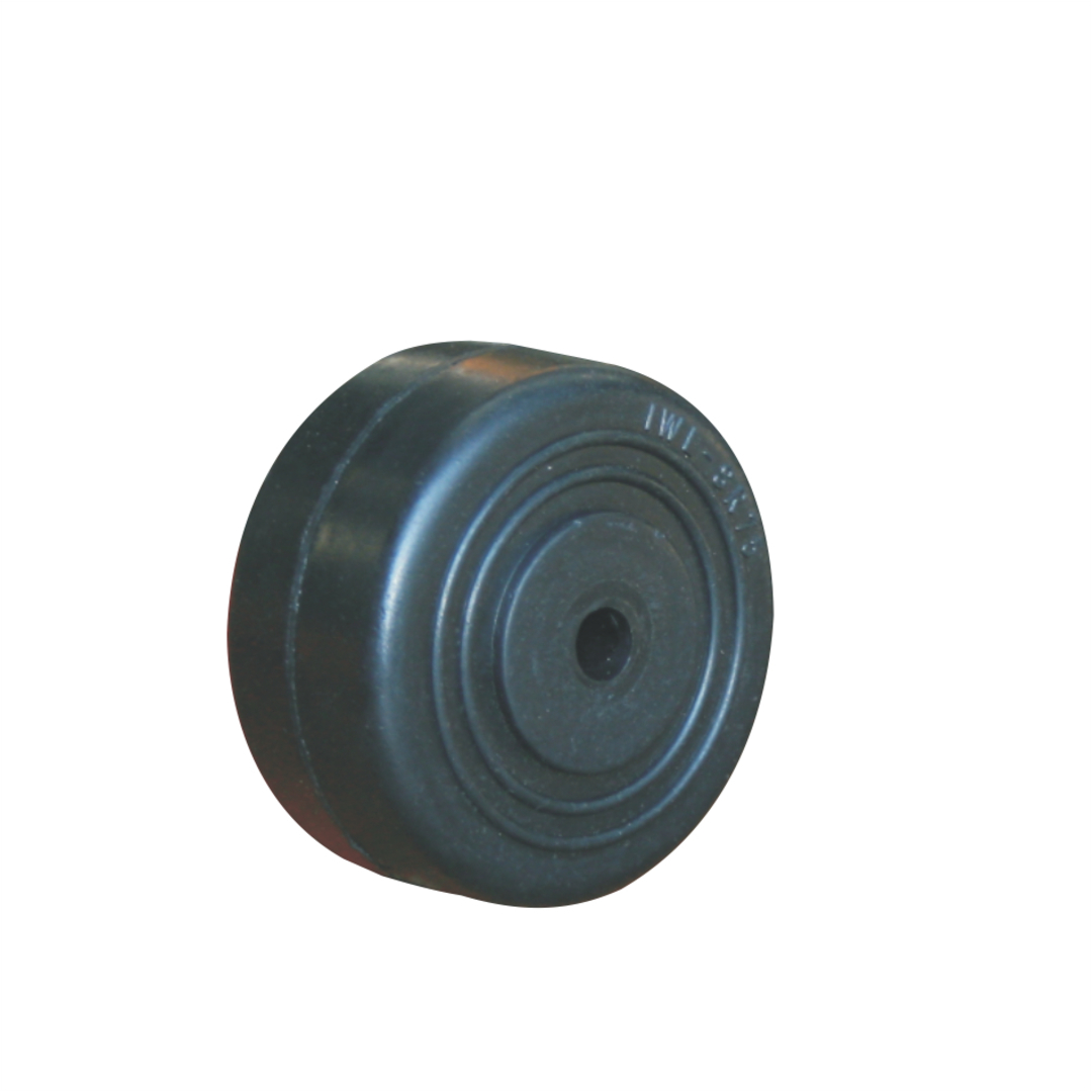 Black Rubber Wheel 40mm - SR40 image 0