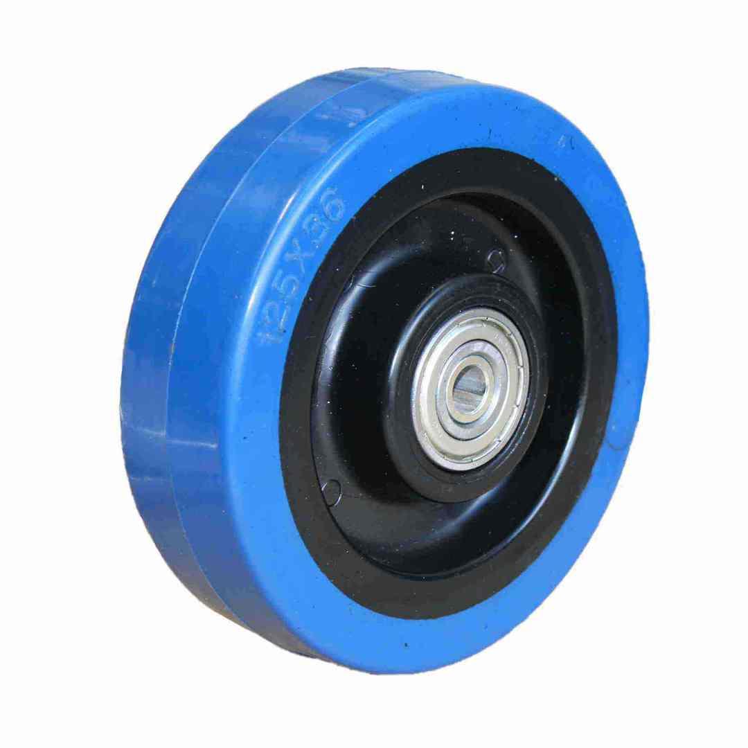 Elastic Rubber Wheel 125mm - MCB125 image 0