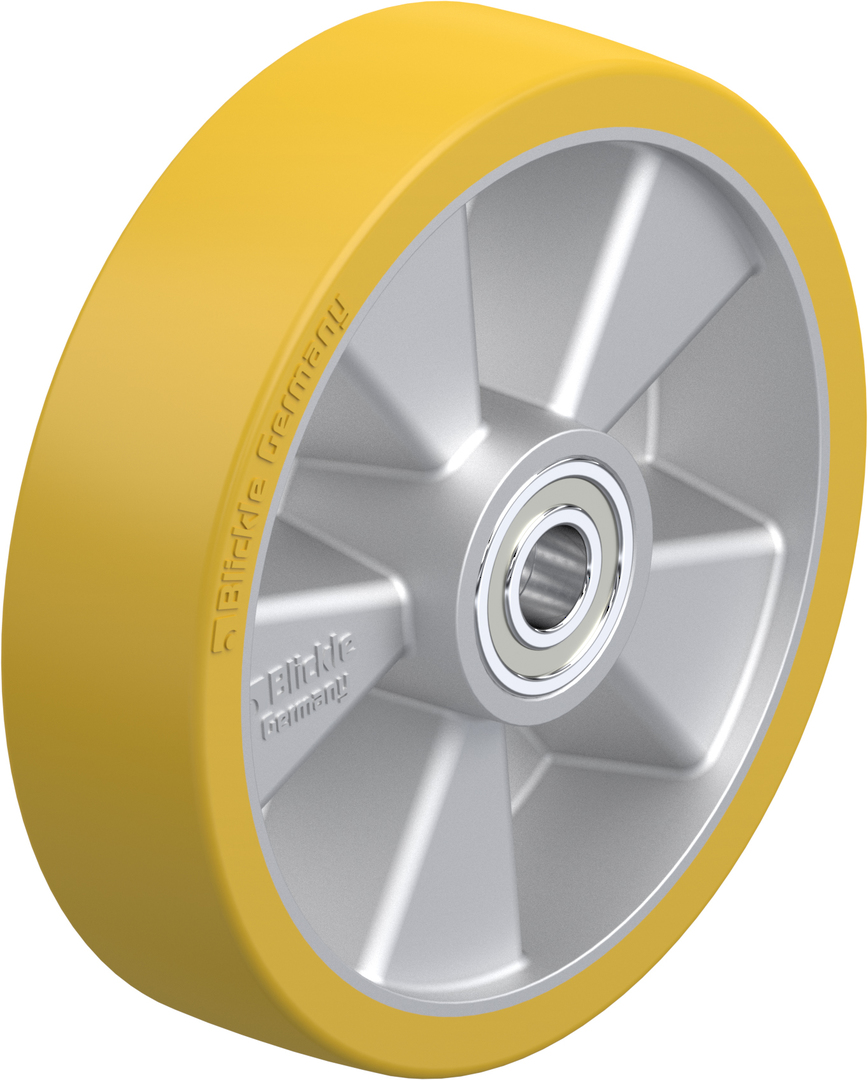 Urethane Wheel 200mm - Aluminium Centre - MAU200 image 0