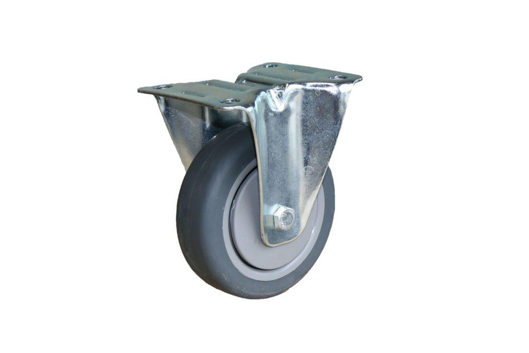 Fixed 100mm Rubber Castor - MCR100/F image 0