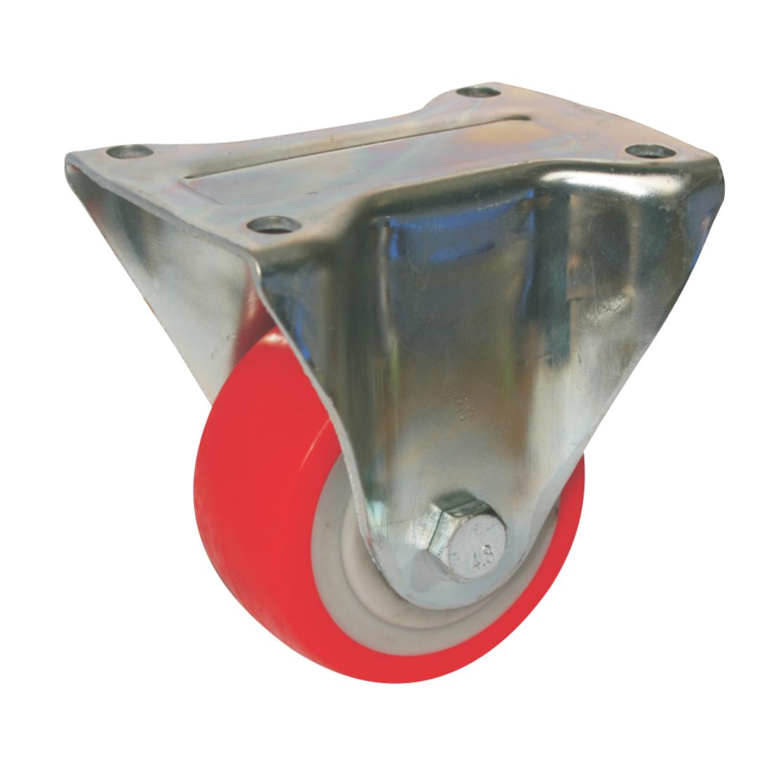 Fixed 100mm Urethane Castor - MHU100/F image 0
