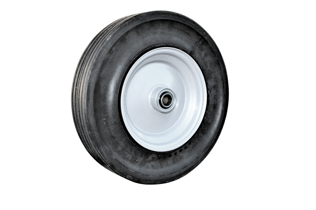 Solid Rubber Wheel 380mm - Steel Rim - BWSR4008 image 0