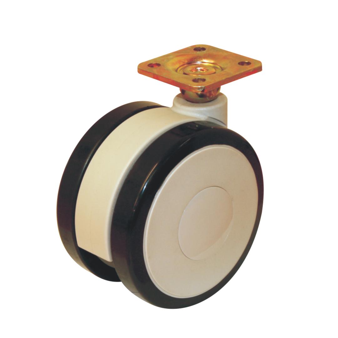 Twin Wheel Castor 100mm - Plate - UTW100-P image 0