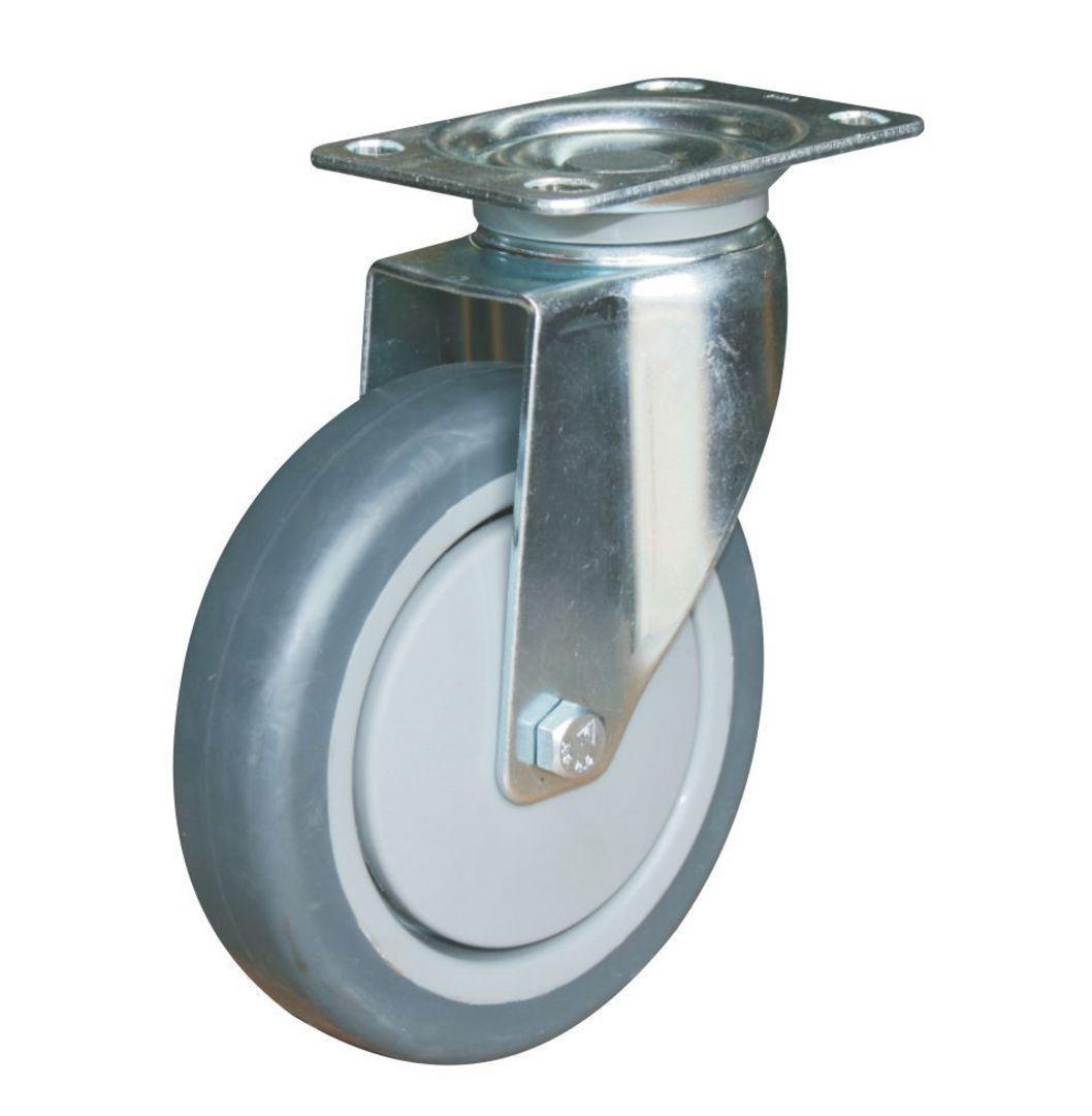 Swivel 125mm Rubber Castor - WCR125/P image 0