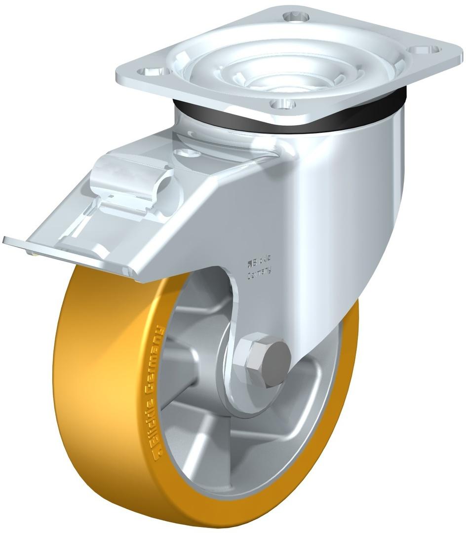 Swivel & Total Brake 125mm Urethane Castor - LKAU125P/TB image 0