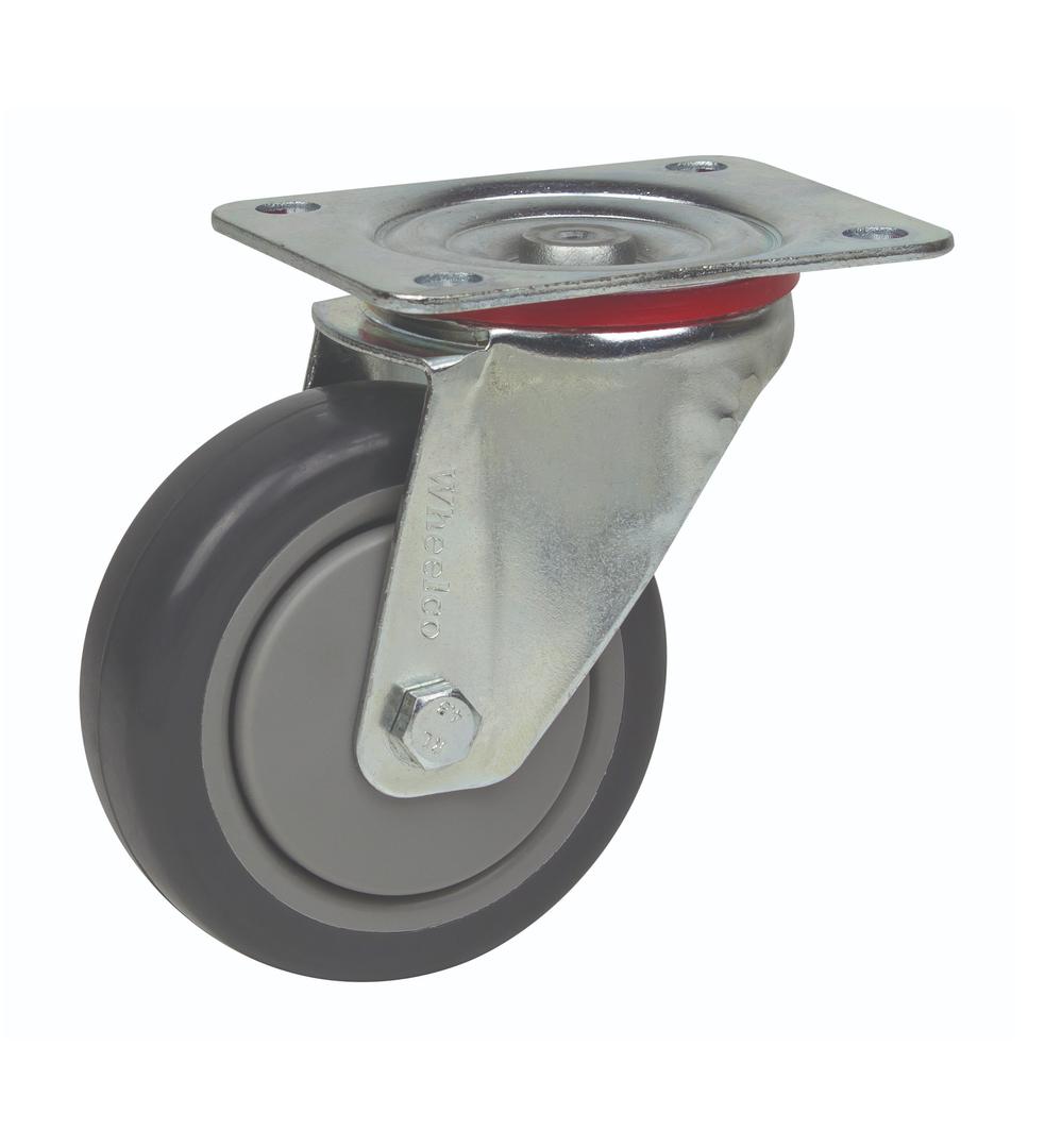 Swivel 100mm Rubber Castor - MCR100/P image 0