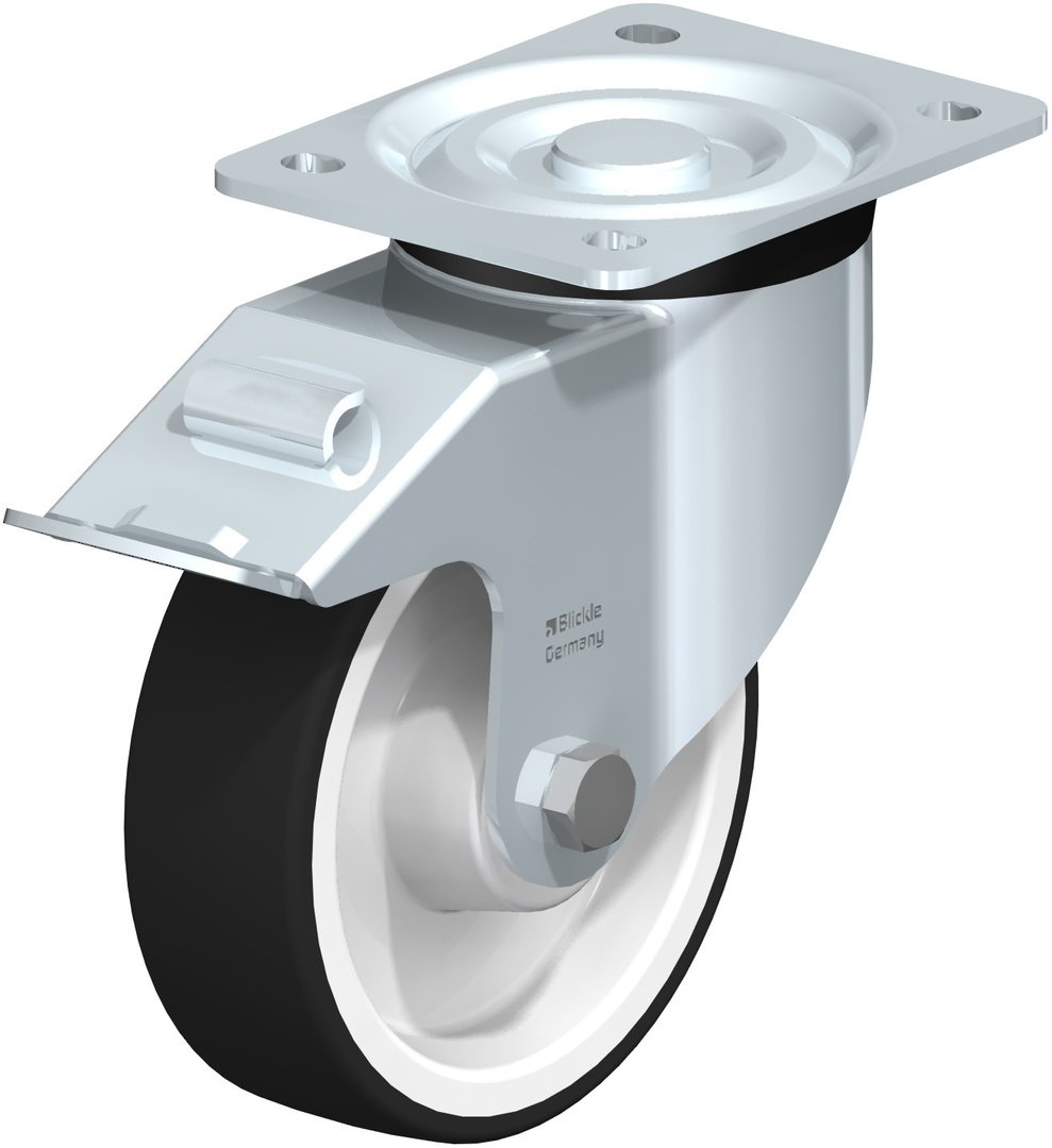 Swivel & Total Brake 150mm Urethane Castor - BHU150/P-TB image 0