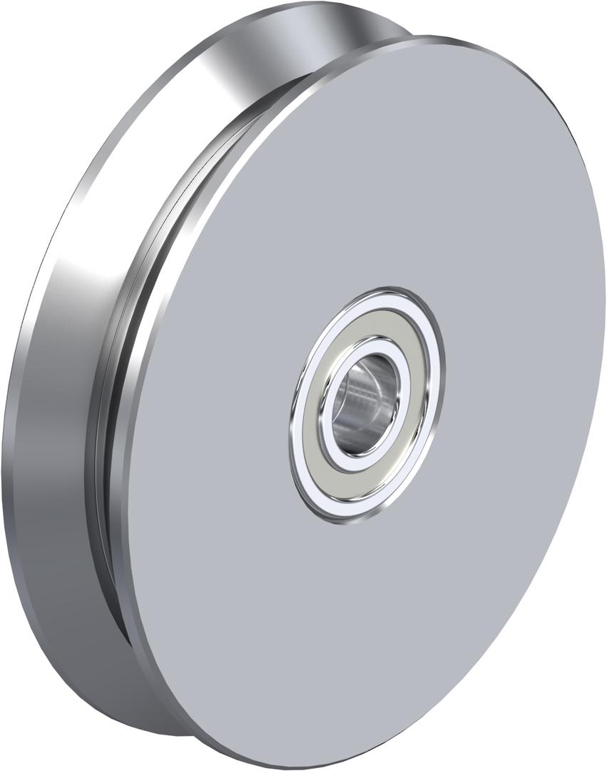 V-Groove Wheel 150mm - Steel - 800KG - S150V image 0