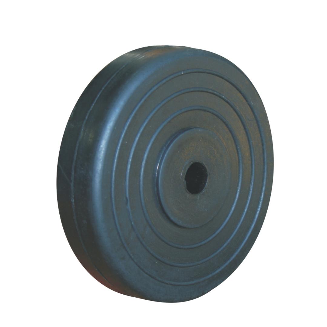 Black Rubber Wheel 100mm - SR100 image 0