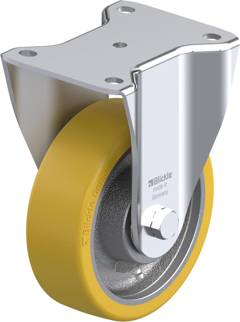 Fixed 150mm Heavy Duty Urethane Castor - MXU150/F image 0