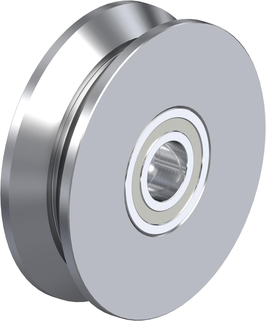 V-Groove Wheel 75mm - Steel - S75V image 0