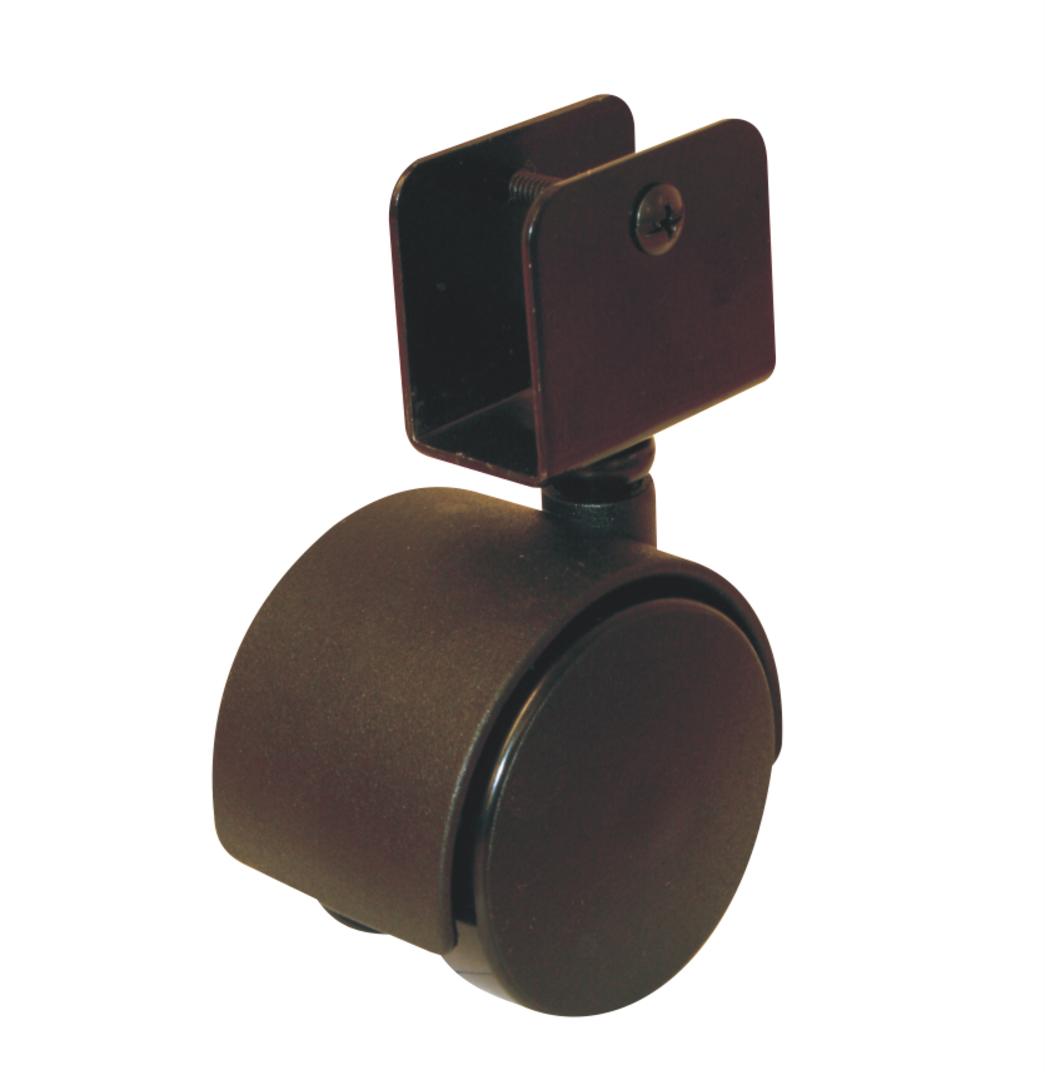 Twin Wheel Castor 50mm - 25mm U Bracket - TW50-U25 image 0
