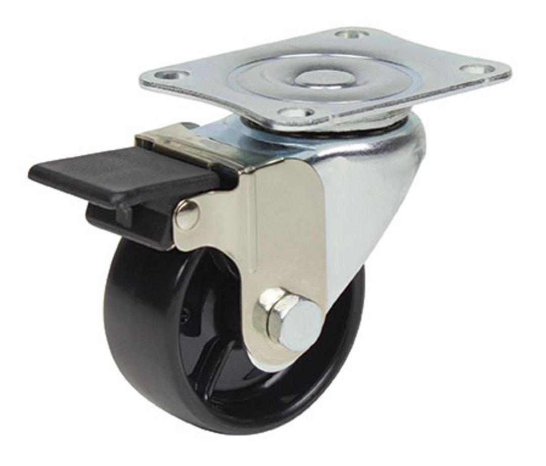 Swivel & Brake 50mm Nylon Castor - WLN50/P-B image 0