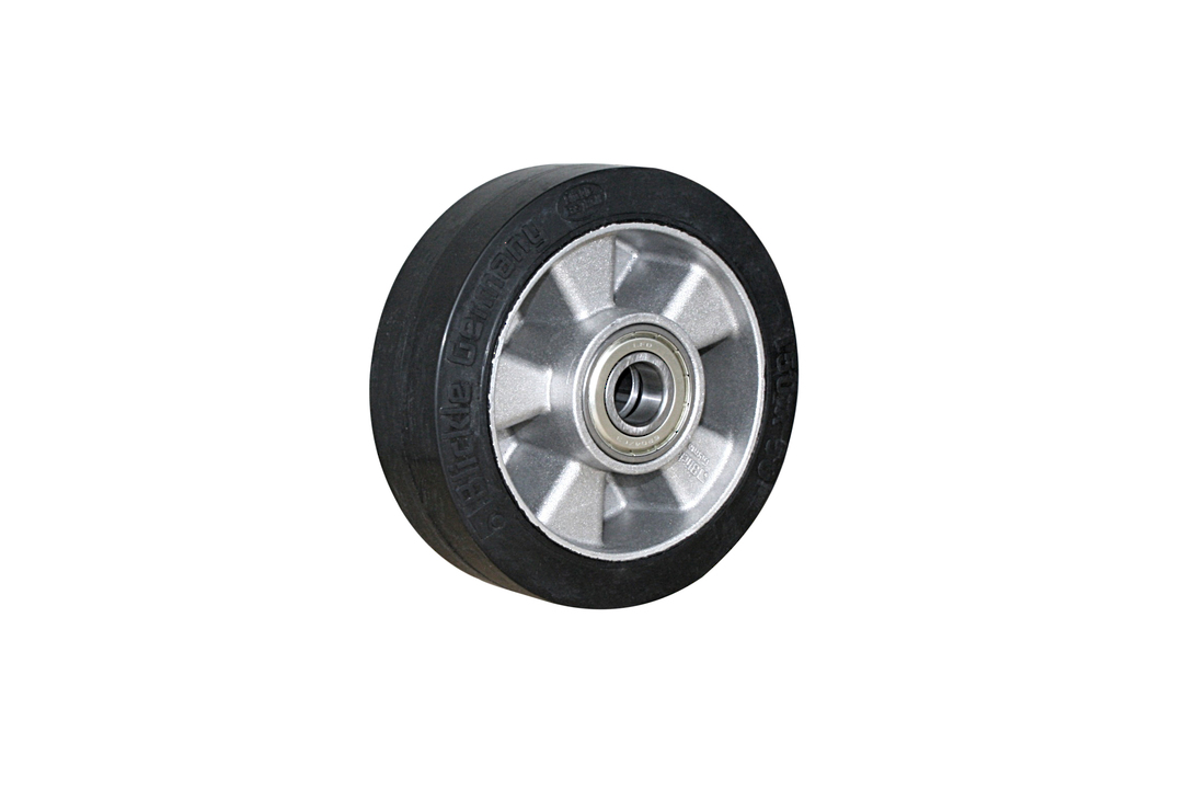 Elastic Rubber Wheel-Aluminium Centre  -150mm- MAB150 image 0