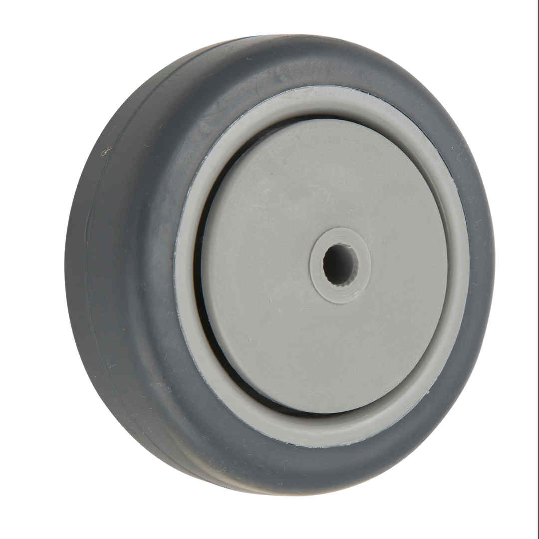 Grey Rubber Wheel 125mm - WCR125 image 0