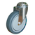 Click to swap image: 01442-125mm-32mm-Grey Rubber-120kg-Ball-158mm-Swivel-102mm-12mm