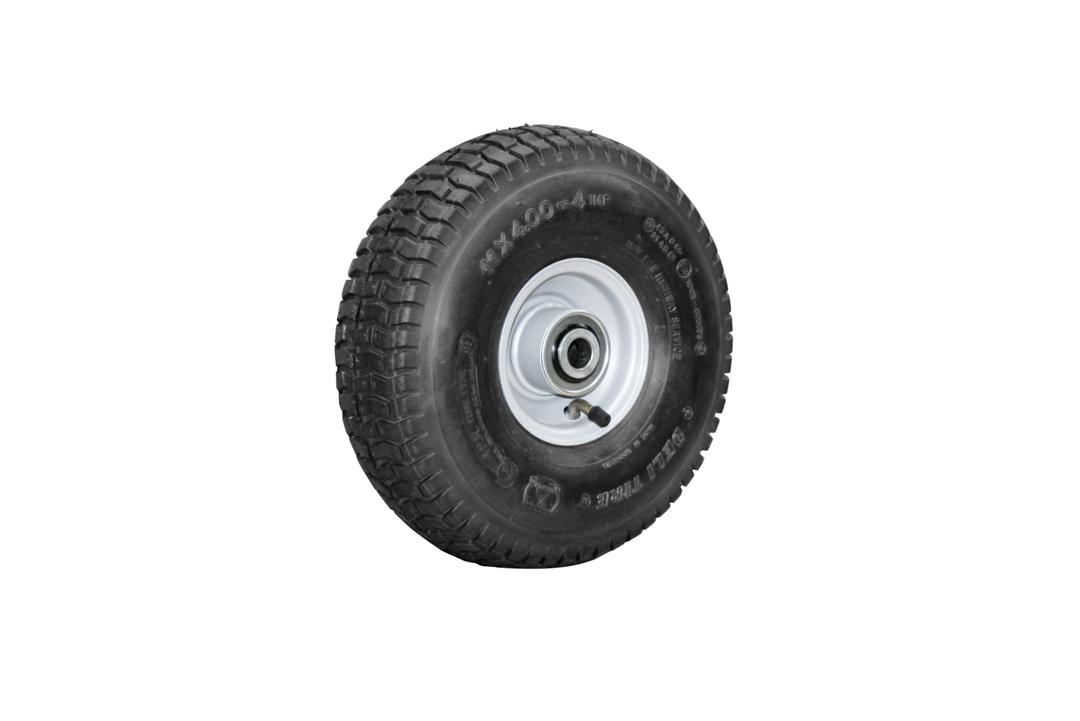 Pneumatic Wheel - Steel Rim - 11/400x4 Turf - BW100-114T image 0