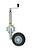 Click to swap image: Galvanized pneumatic jockey wheel