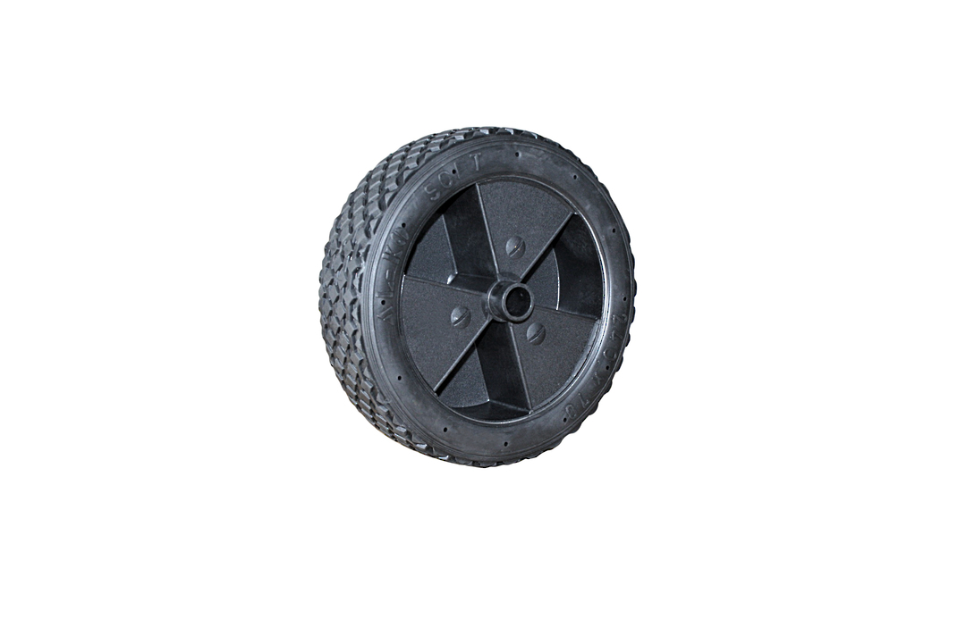 Rubber tyred wheel -Plastic centre 240 x 70mm -JW240 image 0